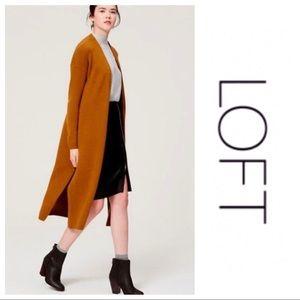LOFT Long Line Open Front Sweater